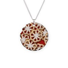 Rosette Christmas Cookies Necklace