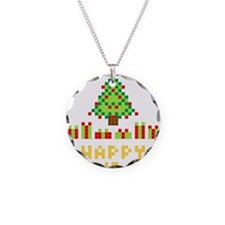 Pixel Christmas Tree Necklace