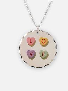 Retro Candy Hearts Love Necklace