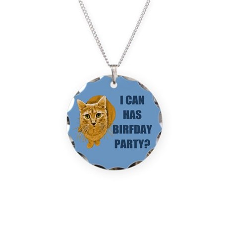 LOLCAT Birthday Party Necklace Circle Charm