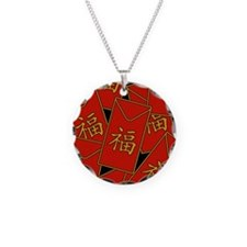 Red Envelopes Necklace Circle Charm