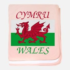 Unique Flag wales baby blanket