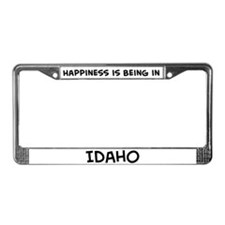 Happiness is Idaho License Plate Frame