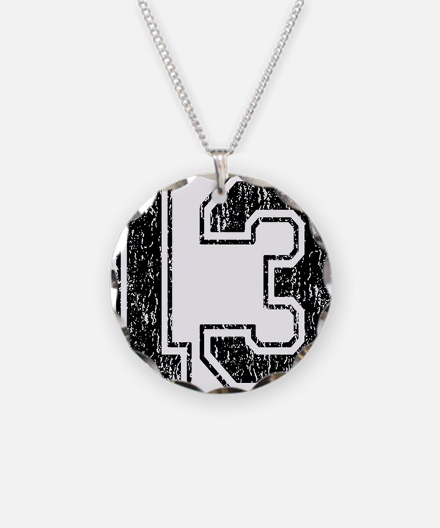 Retro 13 Number Necklace