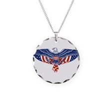 Eagle and American Flag Necklace