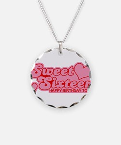 Sweet Sixteen Distressed Necklace