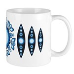 Gypsy garden flower and seed pod mug