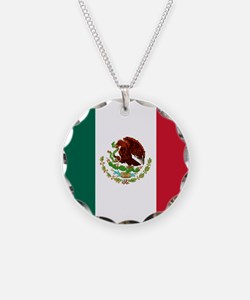Mexico Flag Necklace