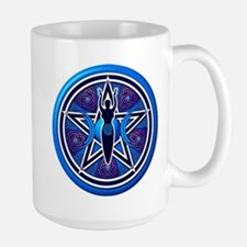 Blue-Purple Goddess Pentacle Large Mug