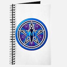 Blue-Purple Goddess Pentacle Journal