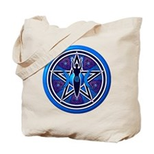 Blue-Purple Goddess Pentacle Tote Bag