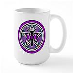 Purple-Teal Goddess Pentacle Large Mug