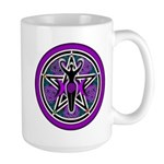 Purple-Teal Goddess Pentacle Large Mug