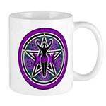 Purple-Teal Goddess Pentacle Mug