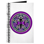 Purple-Teal Goddess Pentacle Journal