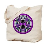 Purple-Teal Goddess Pentacle Tote Bag