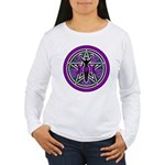 Purple-Teal Goddess Pentacle Women's Long Sleeve T