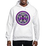 Purple-Teal Goddess Pentacle Hooded Sweatshirt