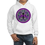 Purple-Teal Goddess Pentacle Hooded Sweatshirt