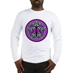 Purple-Teal Goddess Pentacle Long Sleeve T-Shirt