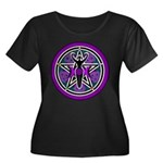 Purple-Teal Goddess Pentacle Women's Plus Size Sco