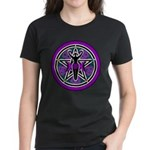 Purple-Teal Goddess Pentacle Women's Dark T-Shirt