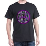 Purple-Teal Goddess Pentacle Dark T-Shirt