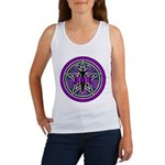 Purple-Teal Goddess Pentacle Women's Tank Top