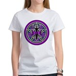 Purple-Teal Goddess Pentacle Women's T-Shirt
