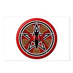 Red Goddess Pentacle Postcards (Package of 8)