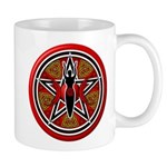 Red Goddess Pentacle Mug