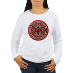 Red Goddess Pentacle Women's Long Sleeve T-Shirt