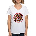 Red Goddess Pentacle Women's V-Neck T-Shirt