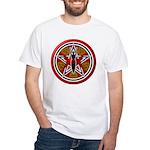 Red Goddess Pentacle White T-Shirt