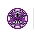 Purple Goddess Pentacle Postcards (Package of 8)
