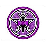 Purple Goddess Pentacle Small Poster