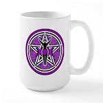 Purple Goddess Pentacle Large Mug