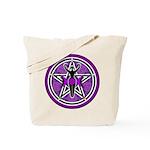 Purple Goddess Pentacle Tote Bag