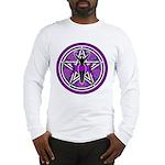 Purple Goddess Pentacle Long Sleeve T-Shirt