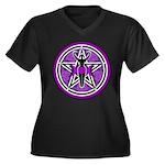 Purple Goddess Pentacle Women's Plus Size V-Neck D