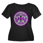 Purple Goddess Pentacle Women's Plus Size Scoop Ne