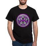 Purple Goddess Pentacle Dark T-Shirt
