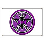 Purple Goddess Pentacle Banner