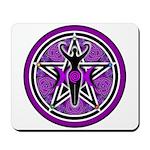Purple Goddess Pentacle Mousepad