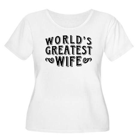 World's Greatest Wife Women's Plus Size Scoop Neck