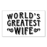 World's Greatest Wife Sticker (Rectangle)