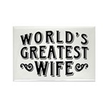 World's Greatest Wife Rectangle Magnet