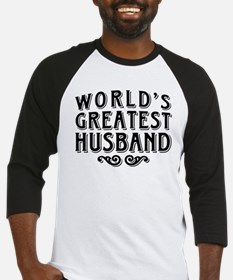 World's Greatest Husband Baseball Jersey