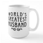 World's Greatest Husband Large Mug