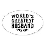 World's Greatest Husband Sticker (Oval)